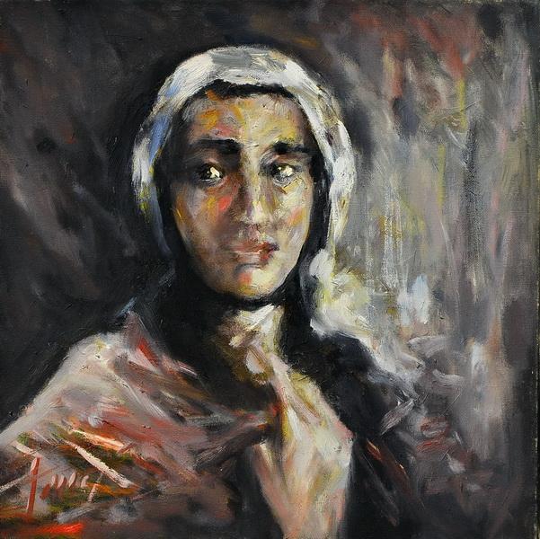 A gipsy lady, Goran Gatarić, oil on canvas
