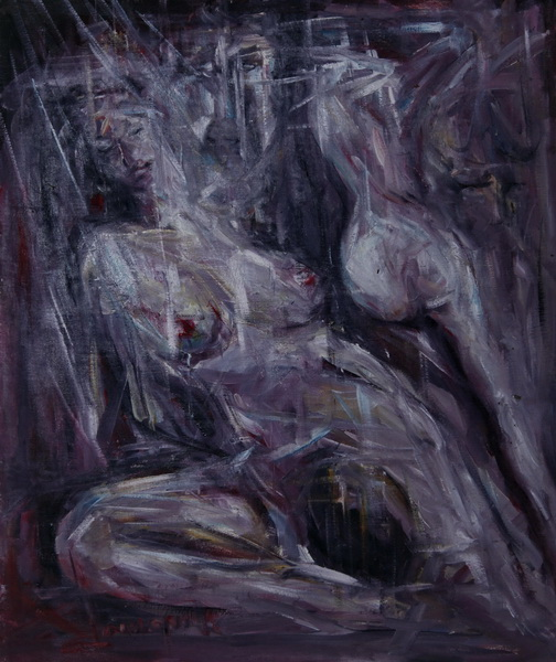 All of My Sins, Goran Gatarić, oil on canvas