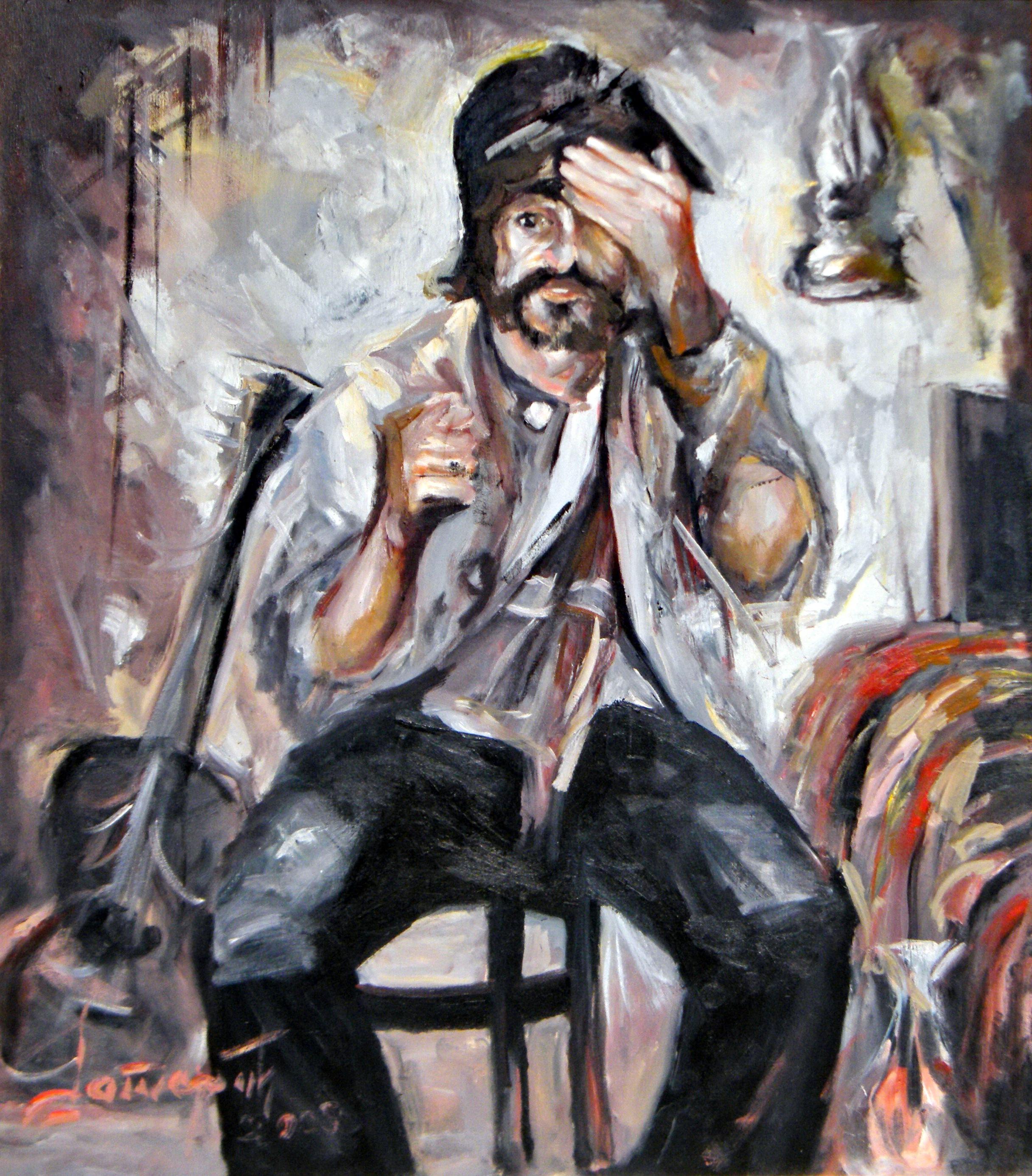 Dikan, Goran Gatarić, oil on canvas