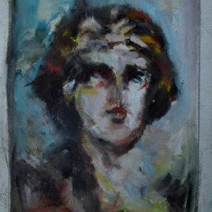 Dionis, Goran Gatarić, oil on canvas