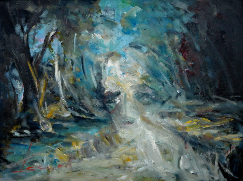 Ex Isidora, Goran Gatarić, oil on canvas