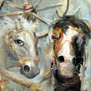 Life of a Horse, Goran Gatarić, oil on canvas