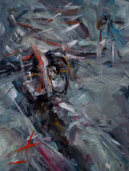 My character, Goran Gatarić, oil on canvas