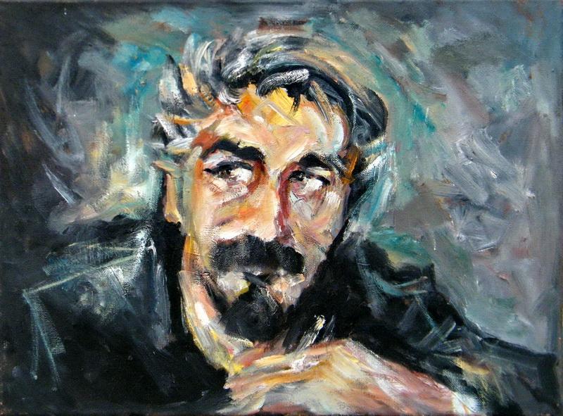 Self-portrait, Goran Gatarić, oil on canvas