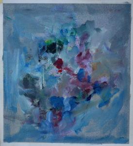 The Blue, Goran Gatarić, oil on canvas