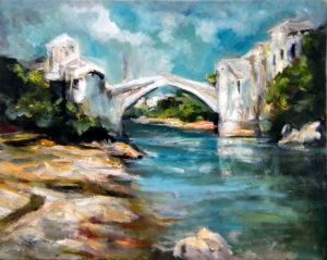the-mostar-bridge-40x50-goran-gataric-oil-on-canvas