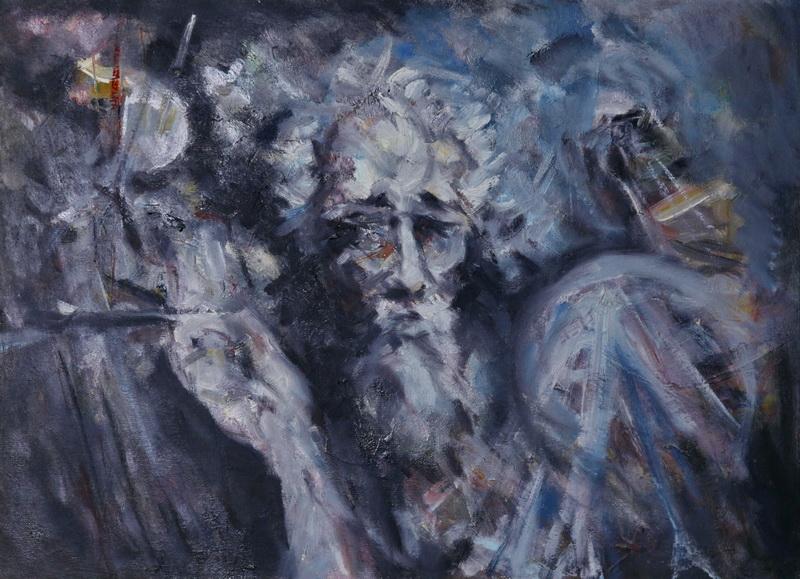 Kad ostarim, 44xx60, Goran Gatarić, ulje na platnu