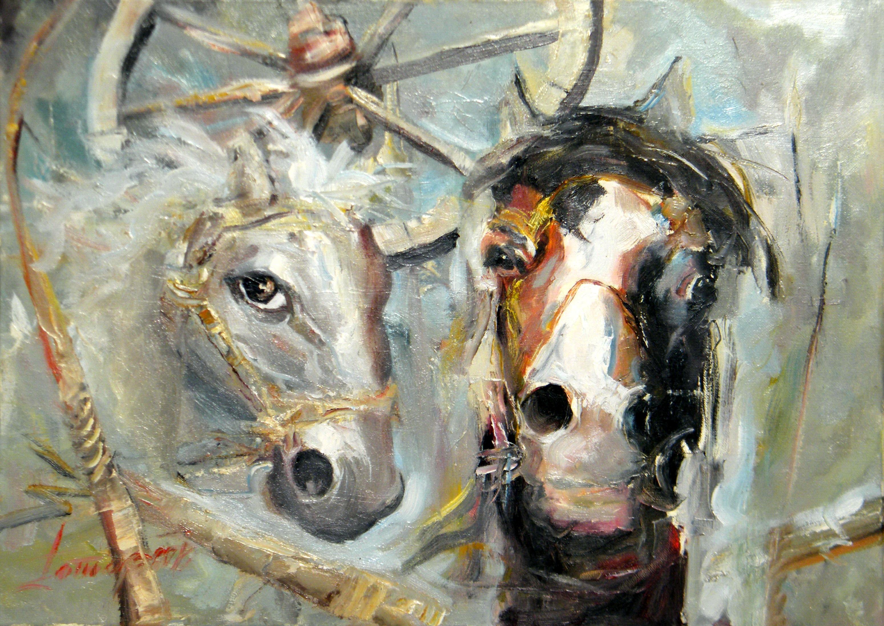 Život jednog konja, 50x70, Goran Gatarić, ulje na platnu