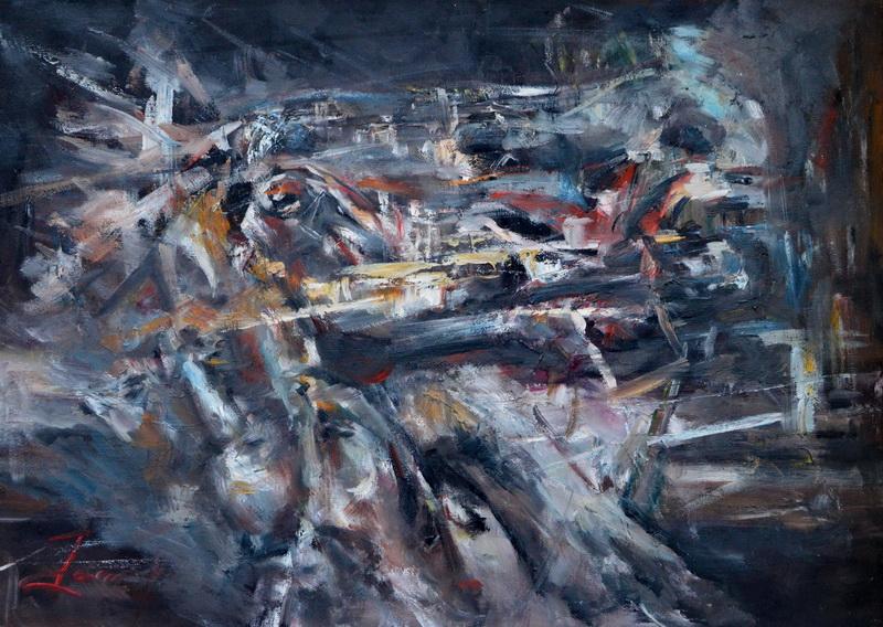 Psiha, 50x69.5, Goran Gatarić, ulje na platnu