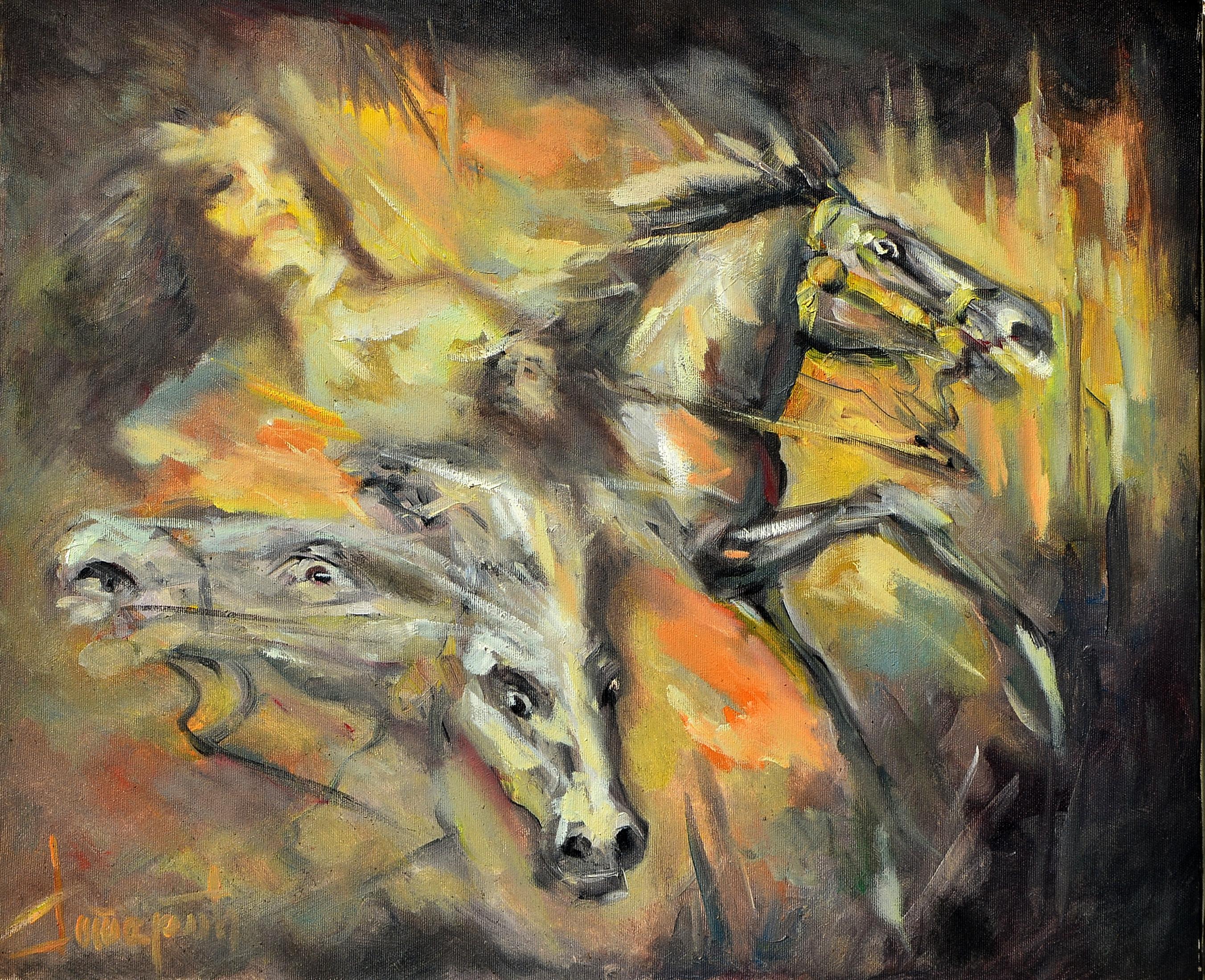 Samoraspeće, 50x60, Goran Gatarić, ulje na platnu