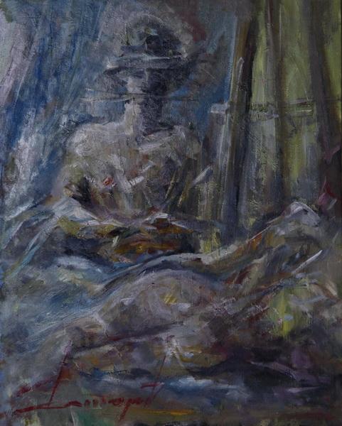 Slikareva strast, 50x40, ulje na platnu, Goran Gatarić