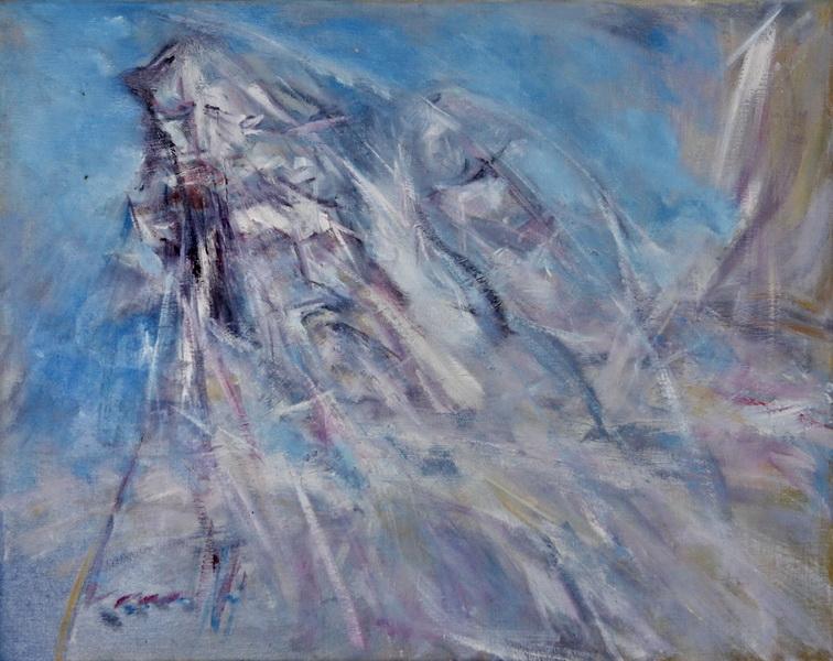 Vizantijsko plavo, 39x49, ulje na platnu, Goran Gatarić
