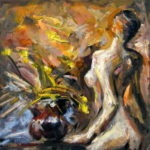 Žena akt (s leđa do pola gola)