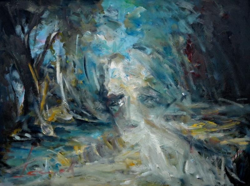 Bivša Isidora, 60x79,5, ulje na platnu, Goran Gatarić