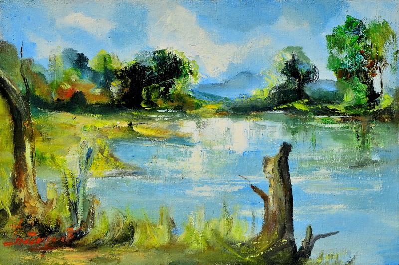 Drinski pejzaž, 40x60, ulje na platnu, Goran Gatarić