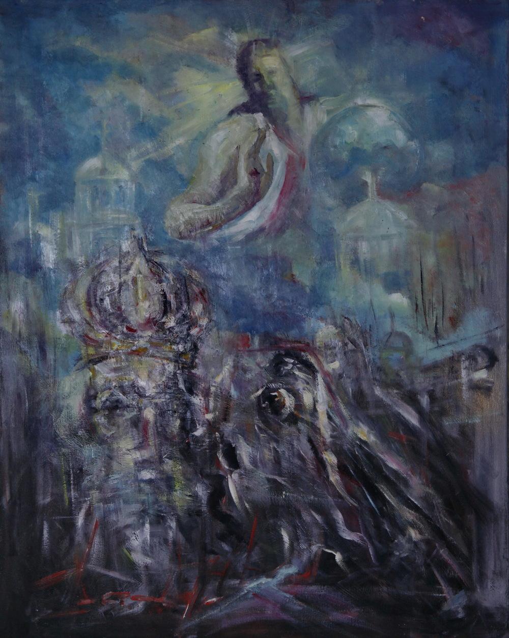 Lazareva mora, 75x60, ulje na platnu, Goran Gatarić