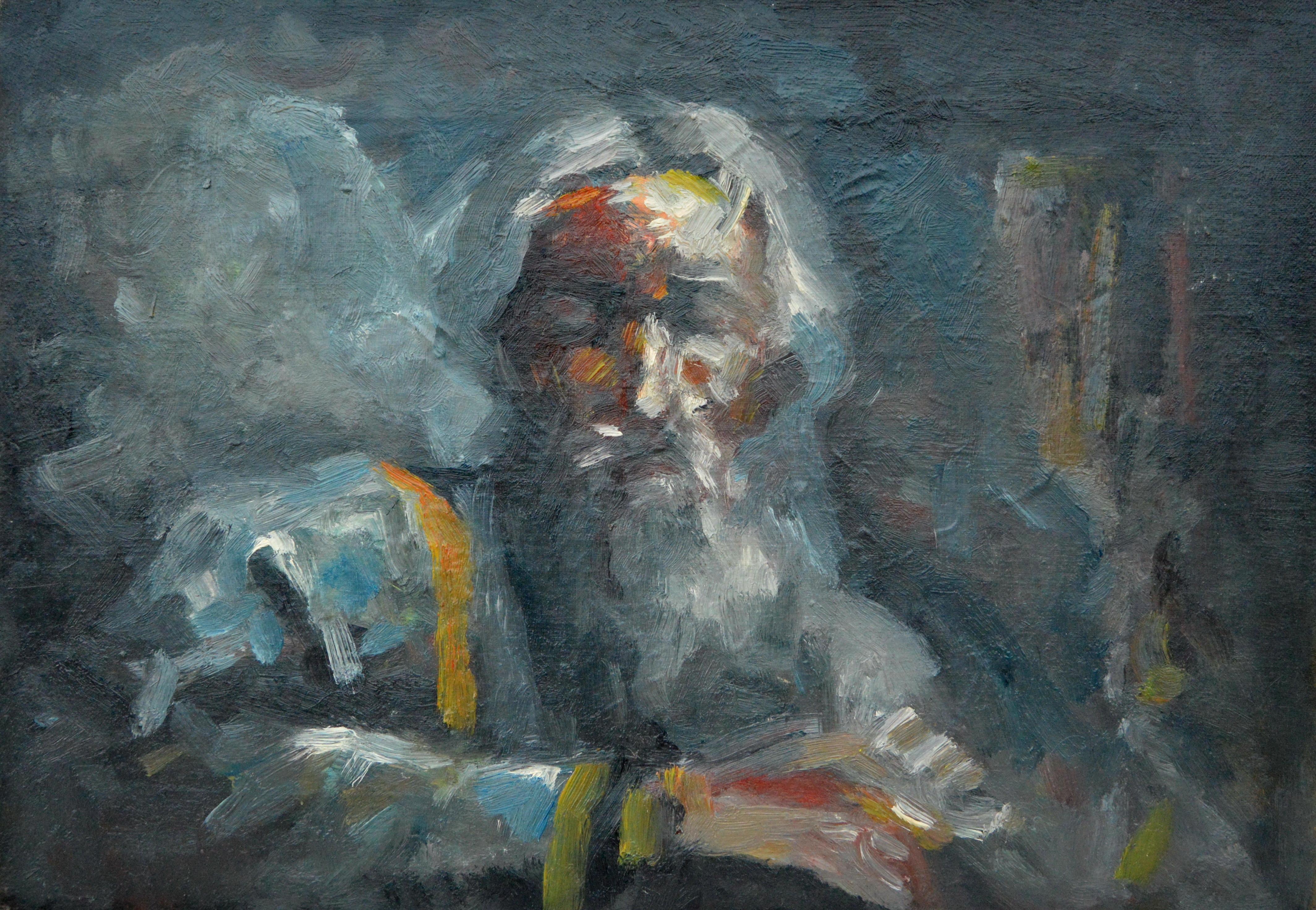 Patrijarh, 32x46, ulje na platnu, Goran Gatarić