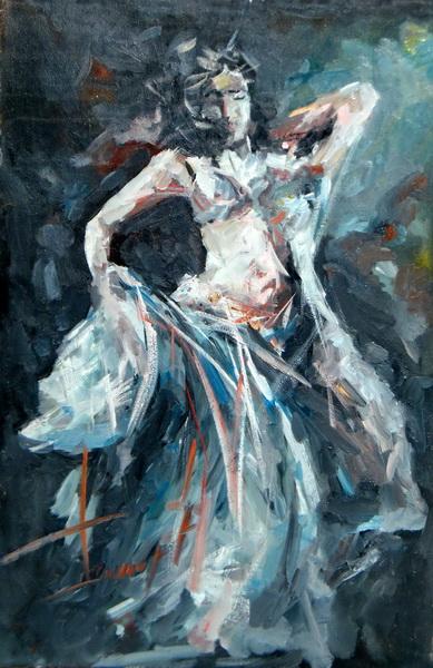 Plesačica, 60x40, ulje na platnu, Goran Gatarić