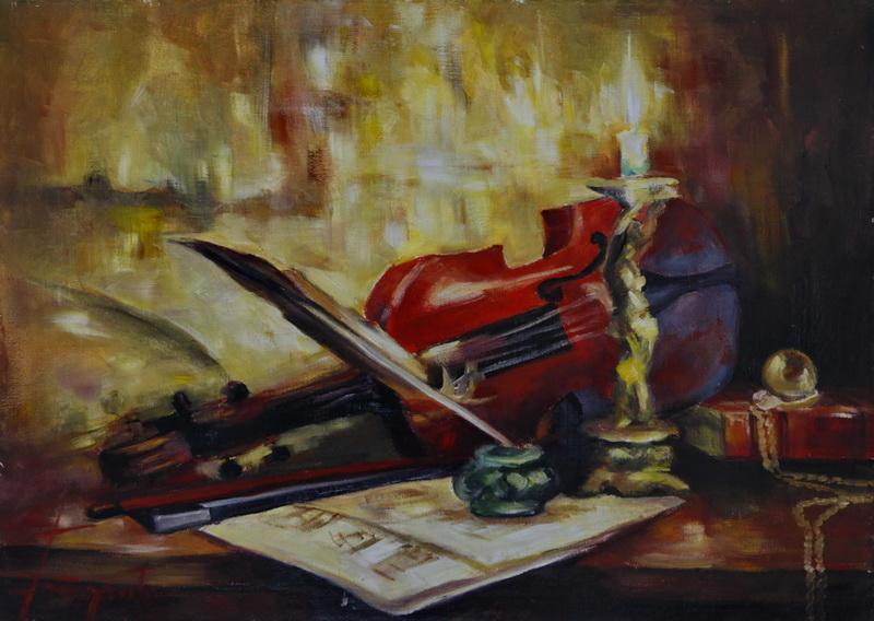 Violina, 50x70, ulje na platnu, Goran Gatarić